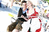 Couple in a chairoplane
