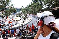 Spectators watching the race at Formula 1 Grand Prix, F1, Monte Carlo, Monaco, Europa