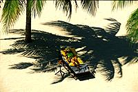 Leisure in palm shadow, Badian Island, Cebu, Philippines