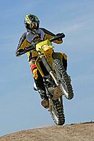 Man on a motocross motorbike, Trainings grounds, Suzuki Offroad Camp, Valencia, Spain