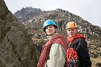 Portrait of rock climbers