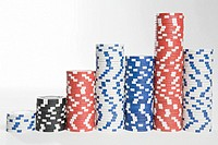 Piles of gambling chips