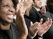 Businesspeople clapping (thumbnail)