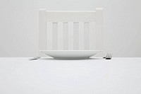 Chair plate and cutlery