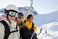 People sat on a ski lift (thumbnail)