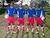 Four footballers