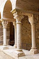 Sant Pere de Rodes benedictine monastery, Port de la Selva. Alt Empordà, Girona province, Catalonia, Spain