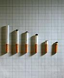 An arrangement of cigarette with different length