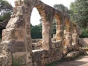 Ruins of buildings, Roman Ruins, Tipaza, Algeria