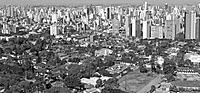 curitiba black and white aerial view of a city