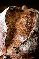 Close_up of a farmhouse loaf of bread