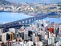 florianopolis aerial bay city view