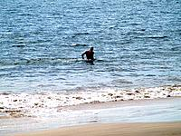 florianopolis one person bathing on the sea