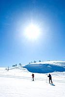 Friends on skitour