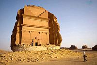 Saudi Arabia, site of Mada'in Saleh, ancient Hegra, Qasr Farid tomb