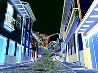 ouro preto mg rocky pavement of the street