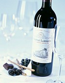 Bottle of Chateau Laroque red wine