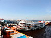 manaus am harbor full of boats anchored
