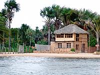 sao luis do maranhao house built at the sand in front of a river