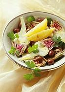 Artichoke and confit lemon salad