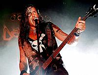 Santiago, Chile (19th April 2008). Singer and bassist Marcel Schmier from German thrash metal band 'Destruction'. Teatro Novedades. Santiago