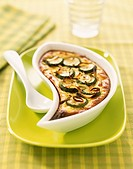 Courgette and shallot Clafoutis