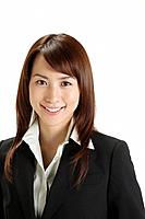 Cheerful businesswoman, portrait