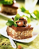 Crunchy chocolate and hazelnut dessert