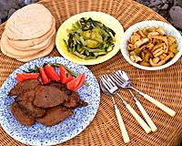 Chinese_style Steak, High Angle View