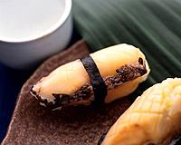 Awabi, hand shaped sushi