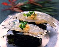 Shirauo, hand shaped sushi
