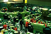 Scene in the stock exchange, High Angle View, Chicago, United States of America