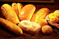 different variety of breads