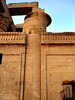 egypt historical symbols on a temple facade