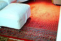 a red carpet rug decoration