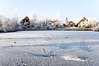 Germany, Lower Saxony, Vahrendorf, winter scenery
