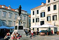 Croatia, Dalmatia, Dalmatian coast, Dubrovnik historical centre, classified as World Heritage by UNESCO, Gundulic square