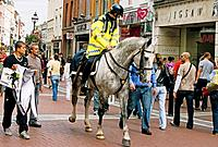 United Kingdom, Ireland, Dublin, mounted police on Grafton Street