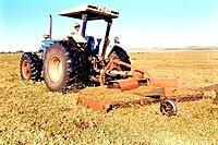 a man plowing the farm field