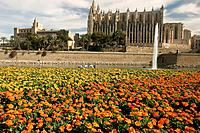 Cathedral, Palma de Mallorca. Majorca, Balearic Islands, Spain