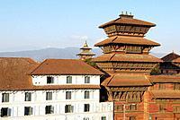 Nepal. Kathmandu valley. Kathmandu. Durbar Square. Basantapur Tower.