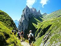 Switzerland, Europe, Alpstein range, Kreuzberge, Appenzell alps, Mountain, Mountains, Alpine, Alps, Landscape, scenery