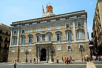 Palau de la Generalitat, Plaça Sant Jaume, Barcelona, Catalonia, Spain