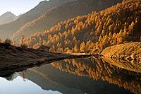 Switzerland, Europe, Grundsee, Mountain, Mountains, Alpine, Alps, Autumn, Lake, Reflections, Canton Valais, Water, Lan