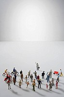 Close_up of figurine of people