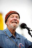 Pete Seeger, American folk singer and political activist
