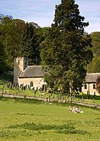 Church and cemetery, North Yorkshire, England