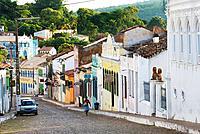 Street scene in Lencois, Chapada Diamantina, State Bahia, Brazil, South America