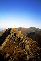 Mourne wall on the Mourne Mountains, County Down, Republic Of Ireland