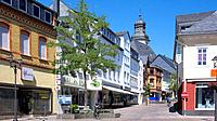 Shopping bstreet in Simmern, Hunsrueck, Germany, Europe